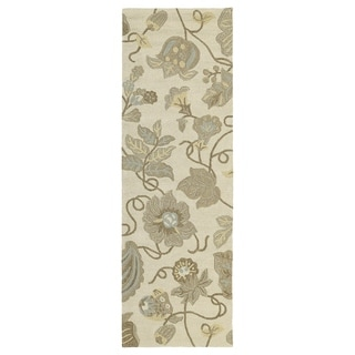 Seaside Sandy Garden Indoor/ Outdoor Rug (2'6 x 8')