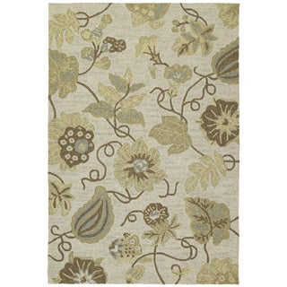 Seaside Sandy Garden Indoor/ Outdoor Rug (10' x 14')