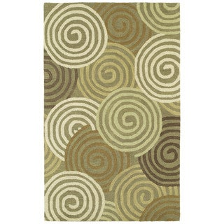 Hand-tufted Manhattan Swirls Rug (7'6 x 9')
