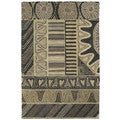 Hand-tufted Manhattan Charcoal Rug (5' x 7'6)