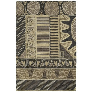 Hand-tufted Manhattan Charcoal Rug (8' x 11')