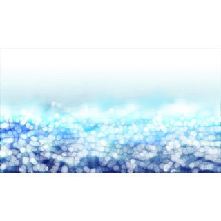 'Luminous Blue Meadow Landscape' Abstract Canvas Wall Art