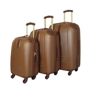 Rockland Vintage 3-piece Lightweight Hardside Spinner Upright Luggage Set