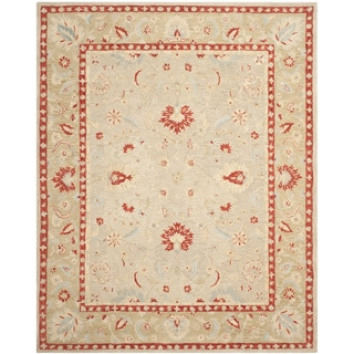 Safavieh Hand-made Anatolia Ivory/ Green Wool Rug (11' x 15')