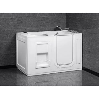 Aston White 55-Inch x 30-Inch Jetted Walk-In Tub
