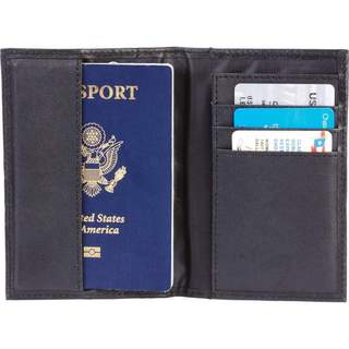 Embassy Solid Genuine Leather Passport Cover Wallet with RFID Security