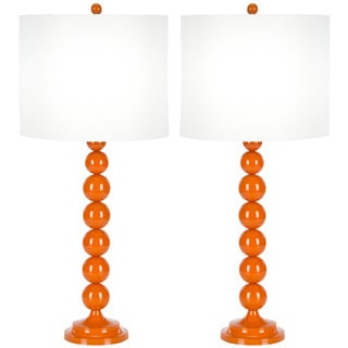 Indoor 1-light Orange Stacked Ball Table Lamps (Set of 2)