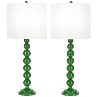 Indoor 1-light Green Stacked Ball Table Table Lamps (Set of 2)
