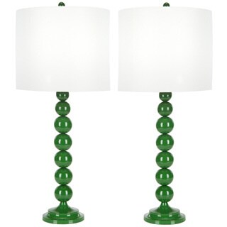 Safavieh Indoor 1-light Green Stacked Ball Table Table Lamps (Set of 2)
