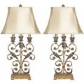 Safavieh Indoor 1-light Lucia Gold Table Lamps (Set of 2)
