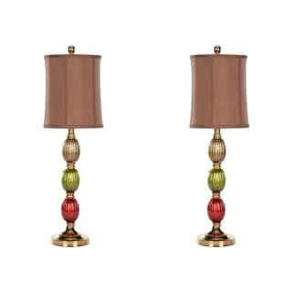 Safavieh Indoor 1-light Sara Painted Glass Table Lamps (Set of 2)