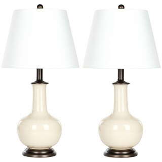 Safavieh Indoor 1-light Danielle Cream Table Table Lamps (Set of 2)