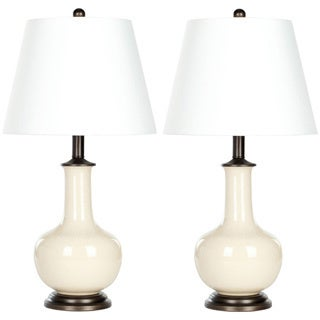 Indoor 1-light Danielle Cream Table Table Lamps (Set of 2)
