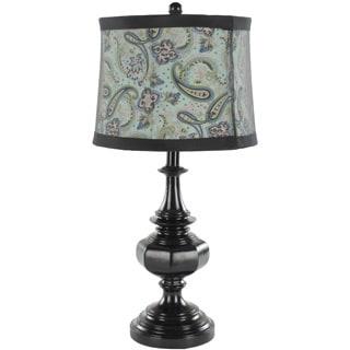 Safavieh Indoor 1-light Paisley Shade Olivia Black Urn Table Lamps (Set of 2)