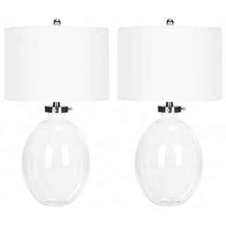 Indoor 1-light Neville Clear Glass Table Table Lamps (Set of 2)