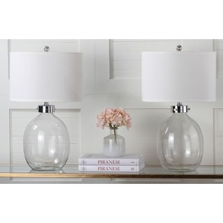 Safavieh Lighting 26-inches Neville Clear Glass Table Table Lamps (Set of 2)