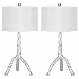 Indoor 1-light Silver Branch Table Table Lamps (Set of 2)