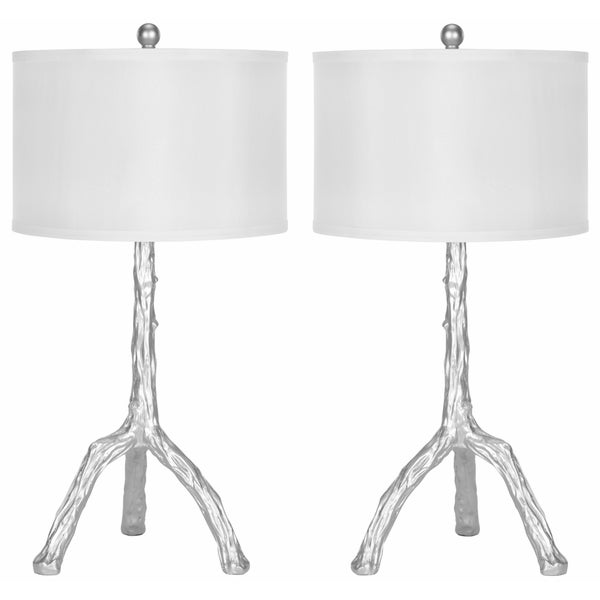 Safavieh Lighting 27.5-inch Silver Branch Table Lamps (Set of 2)