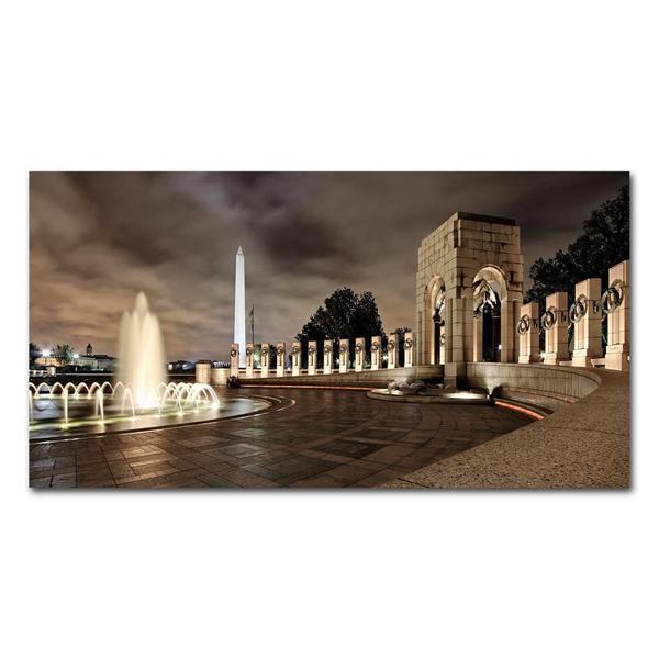 Gregory O'Hanlon 'World War II Memorial at Night' Canvas Art