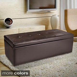 Christopher Knight Home Abigail Leather Storage Ottoman