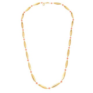 Carolee Goldtone Gold Flat Bead Long Necklace (36-inch)