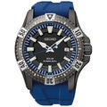 SEIKO Men's Solar Gray Dial Blue Rubber Diver's Watch