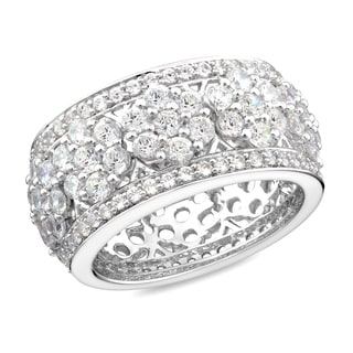 Miadora Sterling Silver Cubic Zirconia Cocktail Ring