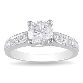 Miadora 14k White Gold 1 1/3ct TDW Diamond Engagement Ring (G-H, I1-I2)