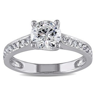 Miadora Signature Collection 14k White Gold 1 1/3ct TDW Diamond Engagement Ring (G-H, I1-I2)