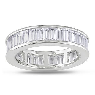Miadora Signature Collection 18k Gold 3ct TDW Baguette Channel Set Diamond Eternity Band (G-H, VS1-VS2)