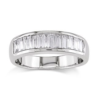 Miadora 18k White Gold 1ct TDW Baguette Cut Diamond Ring (G-H, VS1-VS2)