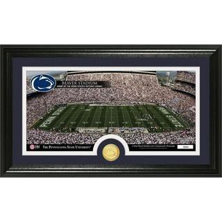 Penn State Stadium Bronze Coin Panoramic Photo Mint