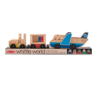 Melissa & Doug Whittle World Plane and Luggage Carrier Set