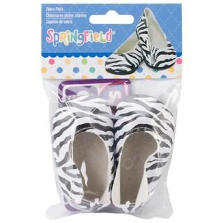 Springfield Collection Zebra Fabric Ballet Flats