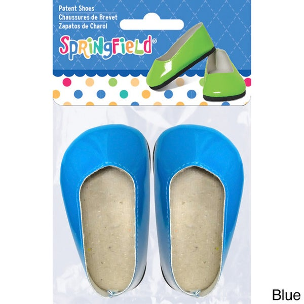 Springfield Collection 18-inch Doll Patent Assorted Fabric Shoes