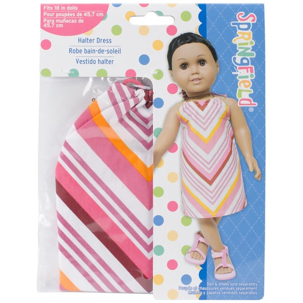 Springfield Collection Pink Striped Halter Dress