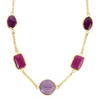 ELYA Goldplated Amethyst Necklace
