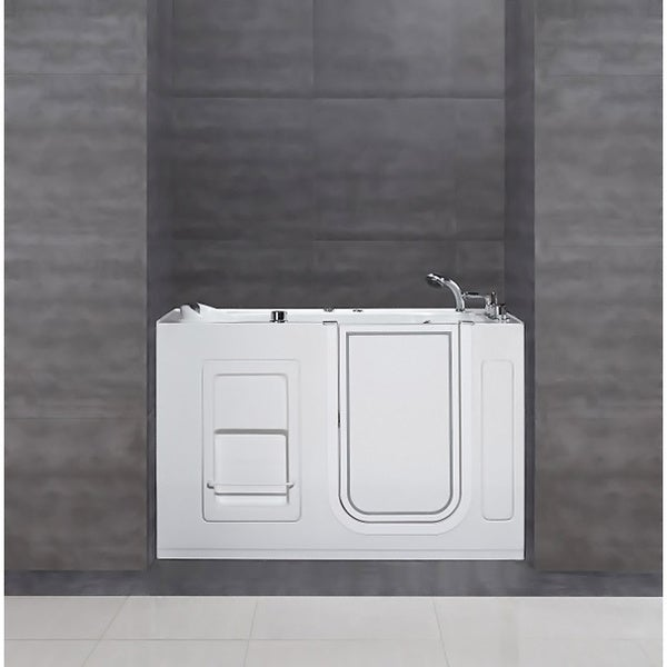 Aston White 55x30-in Jetted Walk-In Tub