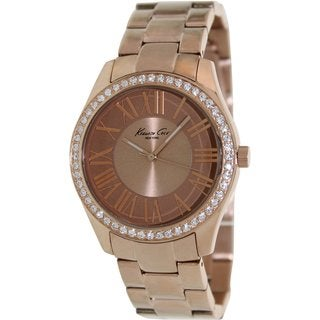 Kenneth Cole Women's Rose Gold Steel and Rose Gold Dial Quartz Watch