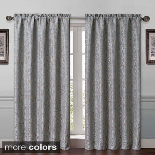 'Catherine' Back Tab Neutral Floral Curtain Panel