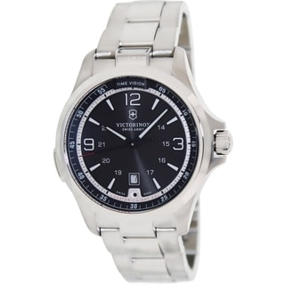 Victorinox Swiss Army Men's Night Vision Steel Swiss Quartz Watch