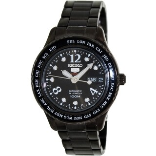 Seiko Women's '5 Automatic' Black Dial Automatic Watch