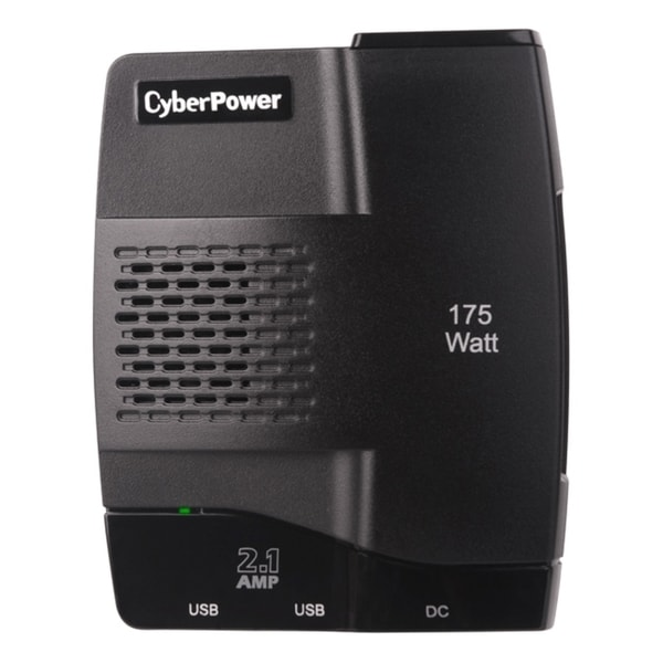 CyberPower CPS175S2U Mobile Power Inverter 175W with 2.1A USB Charger