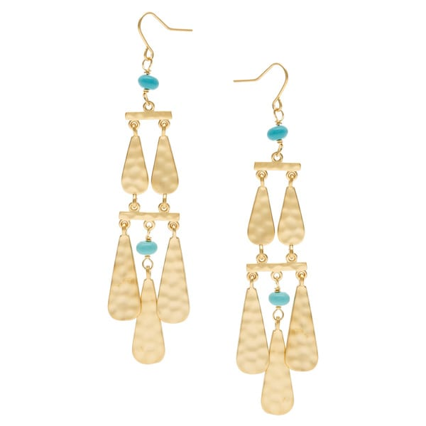 Ralph Lauren Dangle Turquoise Earrings