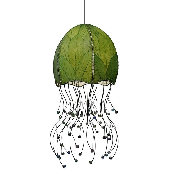 Green Jellyfish Pendant Light