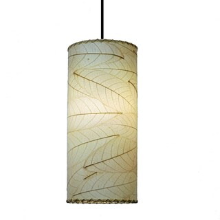 Eangee Natural Cocoa Leaf Cylinder Pendant