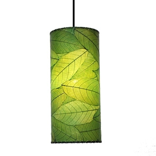 Eangee Green Cocoa Leaf Cylinder Pendant