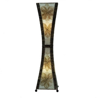Eangee Natural Hour Glass Large Floor Lamp