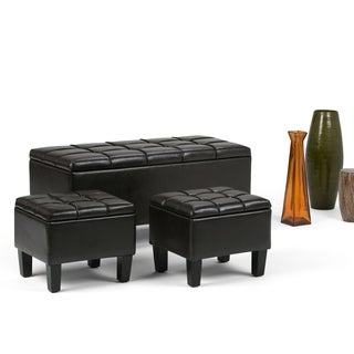 WYNDENHALL Lancaster 44 inch Wide Contemporary Rectangle Storage Ottoman