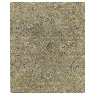 Christopher Kashan Gold Hand-tufted Rug (4' x 6')